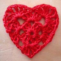 Crocheted Heart Pattern