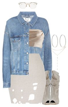 """""""grass ain't greener"""" by indigodistraction143 ❤ liked on Polyvore featuring Thom Browne, Acne Studios, GUESS by Marciano and Ambre Victoria"""