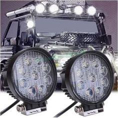 Catuo 4 inch 27 w 12 v 24 v led kerja ringan spot/banjir putaran LED Lampu Worklight Offroad Cahaya untuk Off road Sepeda Motor Mobil Truk