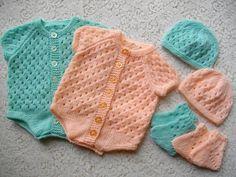 Ravelry: Knitting Pattern No. 12 Newborn Baby Onsie pattern by Lynne Christie: