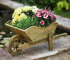 Woodland Wheelbarrow Planter / Natural