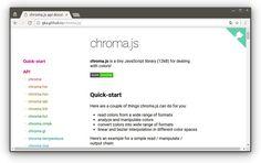 chroma.js крошечная библиотека #JavaScript (12KB) для работы с цветами!