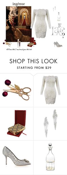 """""""ingénue en dentelle"""" by unbodiedjoy ❤ liked on Polyvore featuring Assouline Publishing, Alexis Bittar, Dolce&Gabbana and Godinger"""