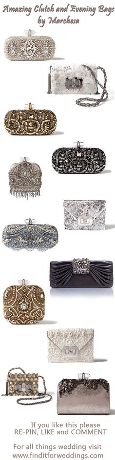 Marchesa.com bridal clutch #wedding handbags www.finditforwedd...