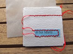handmade card in our hearts blank with envelope by papernursepatsy, $10.00