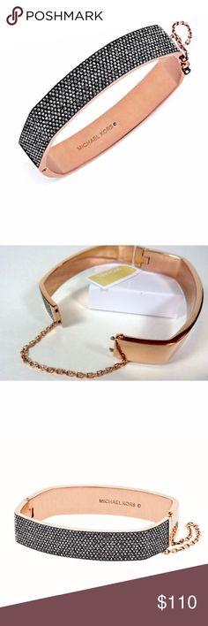 NWT MICHAEL KORS Rose Gold & Pave Square Bracelet NWT MICHAEL KORS Rose Gold & Pave Crystal Square Hinge Bangle Bracelet…Retail: $175 + Michael Kors Jewelry Bracelets