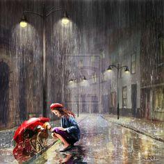 Под дождем...вернисаж художников. Обсуждение на LiveInternet - Российский Сервис Онлайн-Дневников