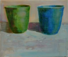 Plastic Beakers #3 oil on canvas 23x30cm