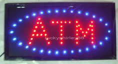 2015 hot sale custom neon signs led neon ATM sign led sign ATM board indoor size 10*19 inch