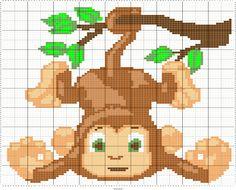Monkey   Designed by Lynn Rowe   Stitch Fiddle
