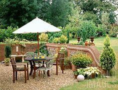 gravel patios | PH660- WOODEN FURNITURE ON GRAVEL PATIO : Asset Details -Garden World ...