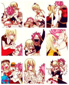 fairy tail natsu and lucy moments Fairy Tail Lucy, Fairy Tail Ships, Fairy Tale Anime, Fairy Tail Family, Fairy Tail Art, Fairy Tail Guild, Fairy Tail Couples, Fairy Tales, Fairytail