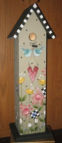 tole painted birdhouses | The Artist's Club Tole and Decorative Painting Blog