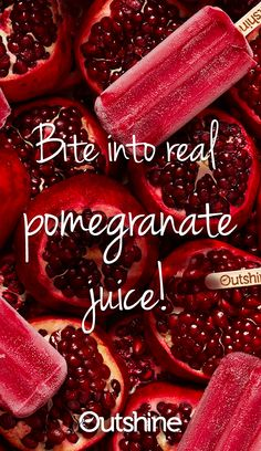 These are great I like the peach! When we asked ourselves how we could make our Outshine Pomegranate Bars even more refreshing, the answer was easy: Make them with more real fruit juice than ever before. Taste it for yourself! Frozen Desserts, Frozen Treats, Healthy Desserts, Just Desserts, Delicious Desserts, Yummy Food, Healthy Recipes, Healthy Drinks, Fruit Recipes