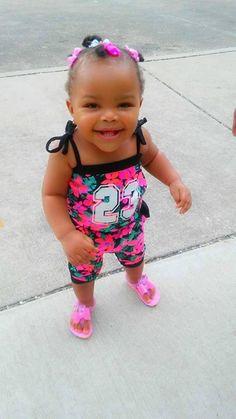 Beautiful baby Kiayari 💗😍 She Summer Time Fine😊 1yrs Old #KidsOMG #cute #babies #babyfashion
