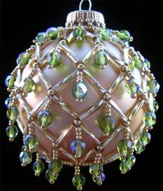 Beaded Christmas Ornament 10