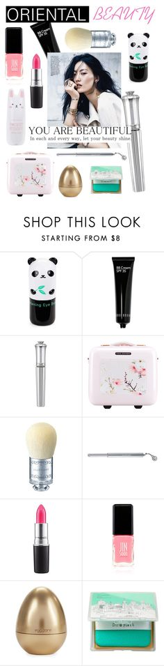 """""""Oriental Beauty"""" by aemun-ahmad ❤ liked on Polyvore featuring beauty, Tony Moly, Bobbi Brown Cosmetics, Morgan Lane, Ted Baker, MAC Cosmetics, JINsoon and too cool for school"""