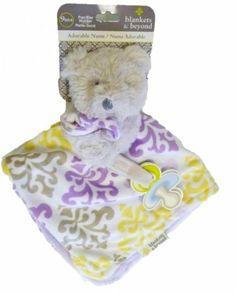 "Blankets & Beyond Lavender Patterned Bear ""Nunu"" Security Blanket Blankets and Beyond,http://www.amazon.com/dp/B00INCRSAC/ref=cm_sw_r_pi_dp_gXJFtb0F98Z95C3H"