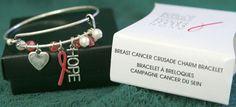 AVON BREAST CANCER CRUSADE CHARM BRACELET FREE SHIPPING NIB #Avon #CharmBracelet