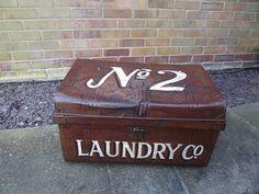 original laundry tin trunk by woods vintage home interiors | notonthehighstreet.com