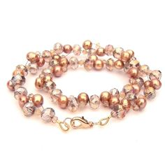 Champagne & Bronze necklace  £14.00