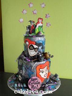 Harley Quinn & Poison Ivy Cake