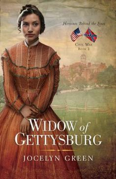 'Widow of Gettysburg - Jocelyn Green. When a horrific battle rips through Gettysburg, the farm of Union widow Liberty Holloway is disfigured into a Confederate field hospital, bringing her face to face with unspeakable suffering-and a Confederate scout who awakens her long dormant heart.