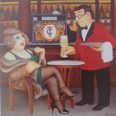 Britain's Biggest Stockist of Beryl Cook Fine Art Comic Art Girls, Beryl Cook, Local Painters, Plus Size Art, English Artists, Fat Women, Naive Art, Funny Art, Portraits