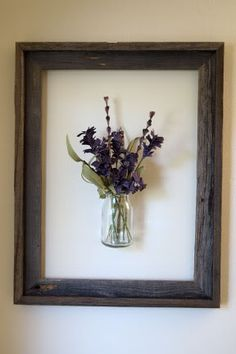 vase in a picture frame. cute idea