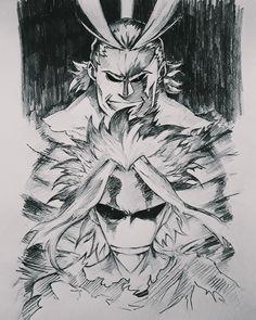 All Might by Yaumil Putra ( Buko No Hero Academia, My Hero Academia Manga, Anime Manga, Anime Art, Naruto Vs Sasuke, Hero Wallpaper, Fanart, Hero Academia Characters, Manga Drawing