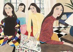 Sobre ter um lindo traço… Kelly Beeman, fashion illustrator e artist.
