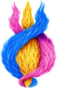 Resultado de imagem para llama azul dorada e rosa