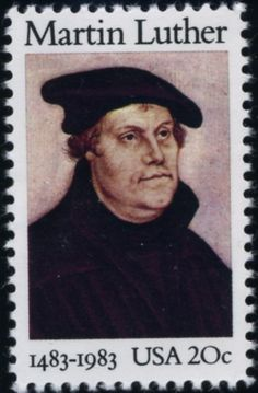 Martin Luther US stamp on his 500th birthday