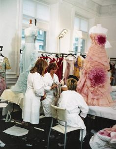 Behind the scenes at the Valentino atelier - the making of a couture dress.