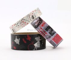 Cute Spring Washi Tape Set of 3 Alice in by PaperPenStickery