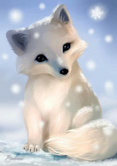 Beautiful Arctic Fox Drawing - So Pretty And Cute Cute Fox Drawing Animated Animals Arctic Fox Digital Drawing Close Up Jill Dimond Art Created On Beautiful Arctic Fox There S A Pos. Cute Fox Drawing, Cute Animal Drawings, Kawaii Drawings, Baby Drawing, Anime Animals, Funny Animals, Baby Arctic Fox, Fox Art, Cute Little Animals