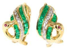 Diamond Gemstone Emerald Swan Earrings 18K Yellow Gold [E... https://www.amazon.com/dp/B00CKIDPFC/ref=cm_sw_r_pi_dp_igqDxbAJCZ0DM