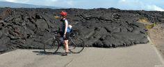 Lava flow on road Big Island, HI