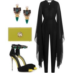 A fashion look from January 2016 featuring emilio pucci jumpsuit f8b5343f8