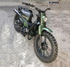 K-SPEED JAPAN Honda Cub, C90 Honda, Motos Honda, Honda Bikes, Honda Motorcycles, Vintage Motorcycles, Custom Moped, Custom Sport Bikes, Custom Motorcycle Helmets