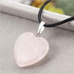 2017 New trendy Chain necklace women Leather Heart Pendant Necklaces Natural Stone Necklace for women Pendants & Necklaces