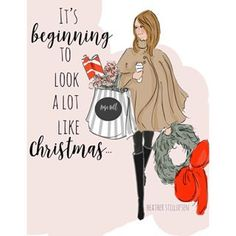 Dinsdag 6 december 2016 * RoseHillDesigns by Heather Stillufsen Christmas Quotes, Christmas Art, Christmas And New Year, Winter Christmas, All Things Christmas, Christmas Shopping Quotes, Preppy Christmas, Christmas Girls, Christmas Messages