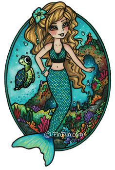 Royal Mermaid Princess, Zoey. Read her stories, get coloring pages and win her real mermaid tail at FinFriends.com