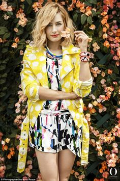 Color confetti: Two Broke Girls star, Beth Behers, 28, pictured, names actress Blake Lively as her biggest style crush