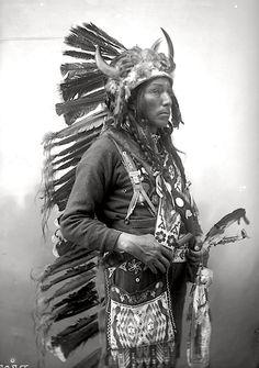 Joseph Help. Oglala Lakota. 1899. Photo by Heyn Photo. Source - Denver Public Library
