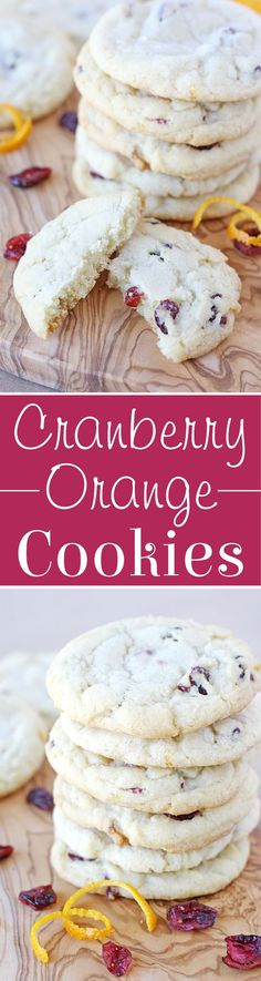 Cranberry Orange Cookies Recipe - Perfect for holiday gifts and cookie exchanges!