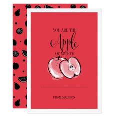 Funny Fruit Pun Apple Valentine Card - cyo diy customize unique design gift idea perfect