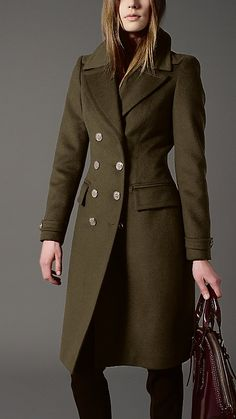 Wool Cashmere Military Coat | Burberry