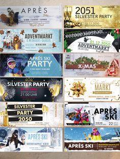 Wir von onlineprintXXL haben für deinen Winter die Richtigen Eintrittskarten dabei. Ob du Sie nun für eine Apres Ski Party, Adventmarkt, Weihnachtsmarkt oder deine Silvester Party benötigst. Wir haben alles für dich prat. Schau dich um bei onlineprintXXL Apres Ski Party, Banner, Silvester Party, Flyer, Ticket, Templates, Banner Stands, Banners