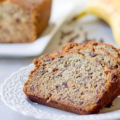 Choc Chip Banana (nut) Bread pg 2 of 3    3 ripe bananas, mashed  1/3 cup melted butter  3/4 cup sugar  1 egg, beaten   1 tsp vanilla  1 tsp baking soda  1/8 tsp salt  1 1/2 cups flour  1/2 cup mini chocolate chips